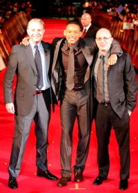 Director Francis Lawrence, actor Will Smith and screenwriter Akiva Goldsman at the Japan premiere of