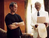 Director Brian Robbins and Eddie Murphy on the set of