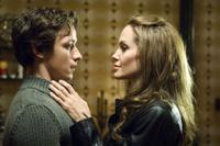 James McAvoy as Wes Gibson and Angelina Jolie as Fox in