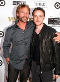 Thomas Kretschmann and James McAvoy at the California premiere of