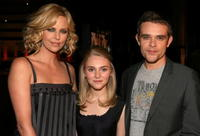 Actress/producer Charlize Theron, actors AnnaSophia Robb and Nick Stahl at the Hollywood premiere of