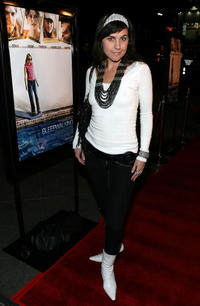 Actress Andrea Fellers at the Hollywood premiere of