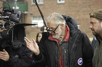 Director George A. Romero on the set of George A. Romero's