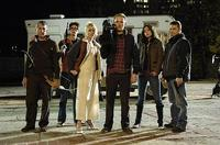Scott Wentworth, Joe Dinicol, Amy Lalonde, Joshua Close, Michelle Morgan and Chris Violette in George A. Romero's