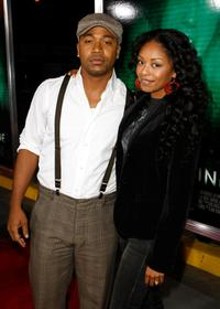 Columbus Short and his wife Tanee McCall at the California premiere of