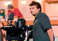 Director Peter Cattaneo on the set of