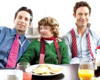 Ben Shenkman as Sam, Noah Bernett as Scot and Tom Cavanagh as Eric in
