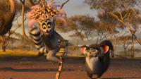 Sacha Baron Cohen as King Julien and Cedric The Entertainer as Maurice in