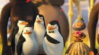 Penguins Rico, Private (Christopher Knights), Kowalski (Chris Miller) and the Skipper (Tom Mcgrath) in