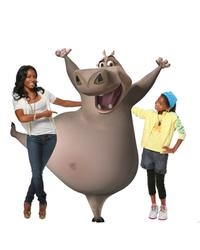Jada Pinkett Smith voices Gloria the hippo and Willow Smith voices the young Gloria in