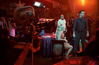 Director Howard Deutch on the set of