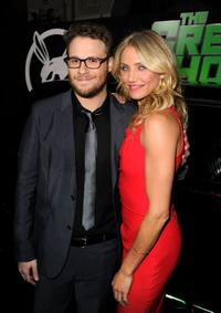 Seth Rogen and Cameron Diaz at the California premiere of