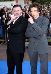 Ricky Gervais and Ben Stiller at the London premiere of