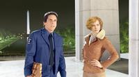 Ben Stiller as Larry Daley and Amy Adams as Amelia Earhart in