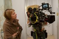 Director Diane English on the set of