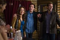 Sasha Alexander as Lucy, Jim Carrey as Carl and Bradley Cooper as Peter in