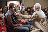 Jim Carrey, John Michael Higgins and Terence Stamp in