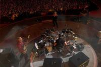 A birds-eye view of U2 onstage in