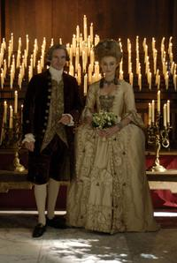 Ralph Fiennes as Duke of Devonshire and Keira Knightley as Georgiana, the Duchess of Devonshire in