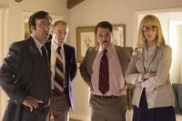 Gabriel Jarret as Ken Khachigian, Jim Meskimen as Ray Price, Andy Milder as Frank Gannon and Kate Jennings Grant as Diane Sawyer in