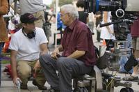 Director Marc Abraham and Cinematographer Dante Spinotti on the set of
