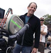 Director Marc Abraham on the set of