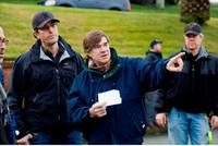 Director Gus Van Sant on the set of