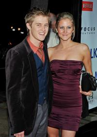 Lucas Grabeel and his sister at the California premiere of