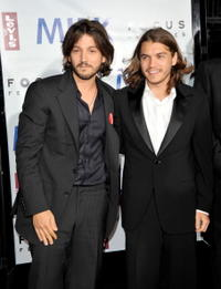 Diego Luna and Emile Hirsch at the California premiere of
