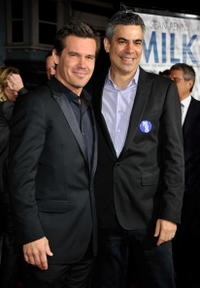 Josh Brolin and Producer Michael London at the California premiere of