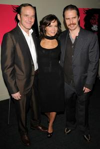 Director Clark Gregg, Jennifer Grey and Sam Rockwell at the New York Screening of