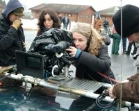 Director Courtney Hunt on the set of