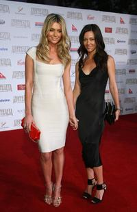 Jennifer Hawkins and Kristy Vitnell at the Australia premiere of