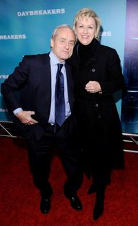 Harry Evans and Tina Brown at the New York premiere of