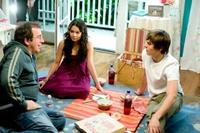 Director Kenny Ortega, Vanessa Hudgens and Zac Efron on the set of