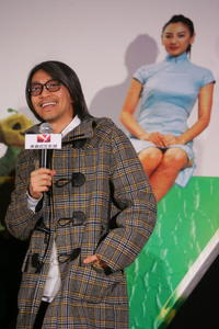 Actor Stephen Chow at a press conference in Beijing, China, to promote