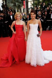 Elizabeth Banks and Aishwarya Rai at the France premiere of