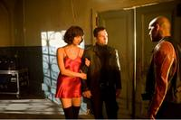 Mark Wahlberg as Max Payne, Amaury Nolasco as Jack Lupino and Olga Kurylenko as Natasha in
