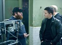 Director John Moore and Mark Wahlberg on the set of