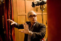 Director Martin Scorsese on the set of