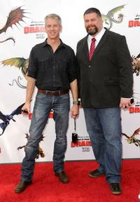 Director/co-writer Chris Sanders and director/co-writer Dean DeBlois at the California premiere of