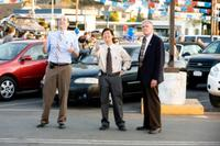 Tony Hale as Wade Zooha, Ken Jeong as Teddy Dang and Charles Napier as Dick Lewiston in