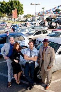 David Koechner as Brent Gage, Kathryn Hahn as Babs Marrett, Jeremy Piven as Don Ready, and Ving Rhames as Jibby Newsome in