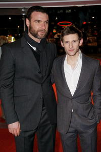 Liev Schreiber and Jamie Bell at the European premiere of