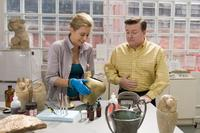 Tea Leoni as Gwen and Ricky Gervais as Bertram Pincus in