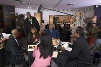 Morris Chestnut, Director Bill Duke, Taraji P. Henson and T.D. Jakes in