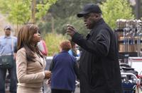 Taraji P. Henson and Director Bill Duke on the set of