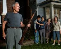 Clint Eastwood as Walt Kowalski, Bee Vang as Thao, Brooke Chia Thao as Vu, Chee Thao as Grandma and Ahney Her as Sue in