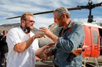 Co-writer/director Joe Carnahan and Liam Neeson on the set of