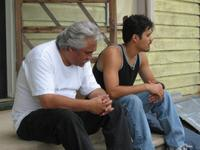 Pedro Castaneda as Jaime Esparza and Abel Becerra as Victor in